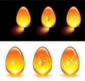 Uova di vetro arancioni Fotografia Stock Libera da Diritti