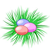 Uova di vettore in un nido Pasqua Simbolo cristiano Modello di Pasqua illustrazione vettoriale