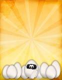 Uova divertenti di Pasqua del fumetto Immagini Stock