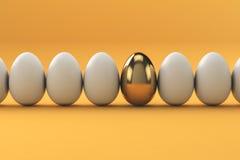 Uova dorate, concetto di finanza Fotografia Stock Libera da Diritti