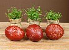 Uova e crescione Fotografie Stock Libere da Diritti