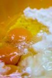 Uova e farina Fotografia Stock