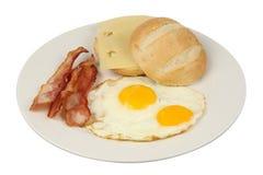 Uova e prima colazione del bacon Fotografia Stock