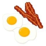 Uova ed illustrazione del bacon Immagine Stock