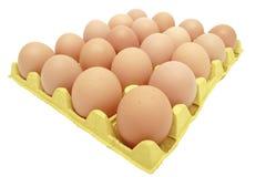Uova in eggtray giallo Immagini Stock Libere da Diritti