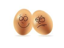 Uova felici ed arrabbiate Fotografia Stock Libera da Diritti