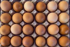 Uova fresche al mercato Fotografie Stock
