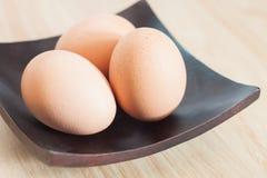 Uova fresche alte chiuse del pollo Fotografie Stock Libere da Diritti