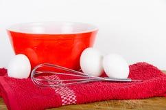 Uova fresche bianche dell'azienda agricola Fotografie Stock Libere da Diritti
