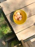 Uova fresche del paese Fotografia Stock Libera da Diritti