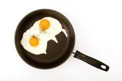 Uova fritte immagini stock