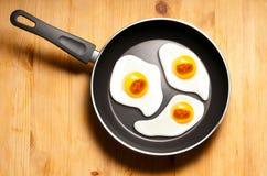 Uova fritte degli embrioni Fotografia Stock