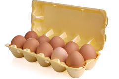 Uova in imballaggio Immagine Stock Libera da Diritti