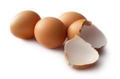 Uova isolate su bianco Fotografia Stock