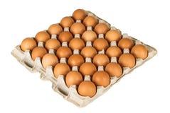 Uova isolate su fondo bianco Fotografie Stock