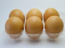 Uova isolate su un fondo bianco Immagini Stock Libere da Diritti