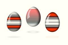 Uova leggere su fondo bianco illustrazione vettoriale