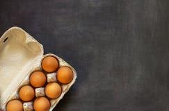 Uova nel pacchetto immagine stock libera da diritti