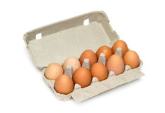 Uova nella casella Fotografia Stock