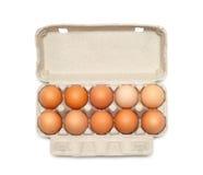 Uova nella casella Immagini Stock Libere da Diritti