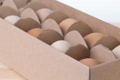 Uova nella scatola Fotografia Stock Libera da Diritti