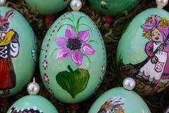 uova orientali 2 dipinti a mano fotografia stock