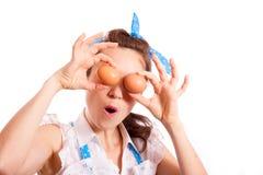 Uova per gli occhi Fotografia Stock Libera da Diritti