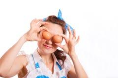 Uova per gli occhi Fotografie Stock Libere da Diritti