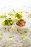 Uova piene con insalata di verdure Immagine Stock Libera da Diritti