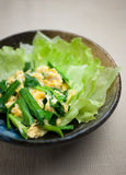 Uova rimescolate giapponesi, un Niratama Fotografie Stock