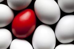 Uova rosse e bianche Fotografia Stock Libera da Diritti