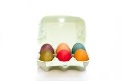 Uova in scatola Immagine Stock