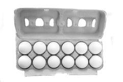 Uova in scatola dell'uovo Fotografia Stock Libera da Diritti