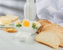 Uova sode con aneto Fotografie Stock