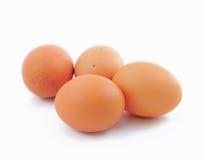 Uova su fondo bianco Immagine Stock
