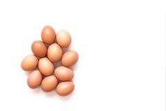 Uova su priorità bassa bianca Fotografie Stock Libere da Diritti