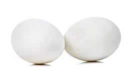Uova su priorità bassa bianca Fotografia Stock
