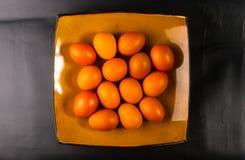 uova sul piatto marrone Immagini Stock Libere da Diritti
