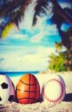 Uova sulla spiaggia dell'oceano Immagini Stock