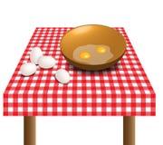 Uova sulla tavola royalty illustrazione gratis
