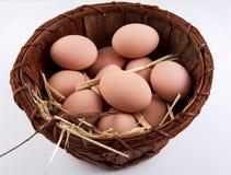 Uova in un canestro fotografia stock
