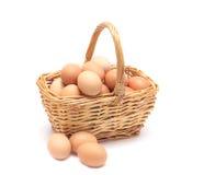 Uova in un cestino Fotografia Stock Libera da Diritti
