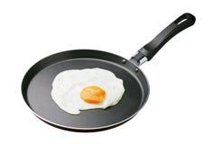 Uova in una vaschetta di frittura Fotografia Stock Libera da Diritti
