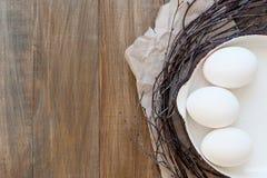 Uova in una vaschetta di frittura Immagine Stock Libera da Diritti
