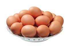 Uova in una zolla immagine stock