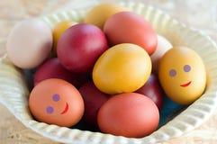 Uova variopinte di Pasqua Immagini Stock Libere da Diritti