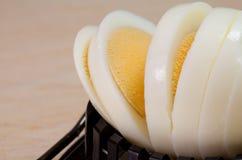 Uovo affettato Fotografie Stock Libere da Diritti