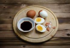 Uovo bollito fotografia stock libera da diritti