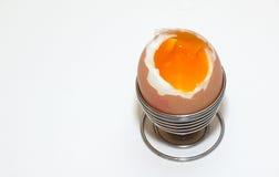 Uovo bollito molle Fotografia Stock