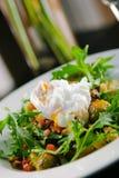 Uovo bollito su insalata Fotografie Stock Libere da Diritti